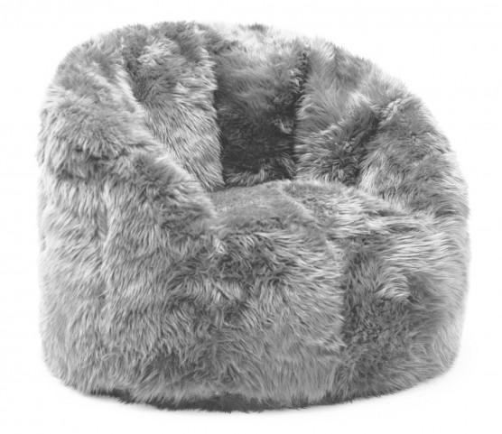 Big Joe Milano Grey Shag Chair