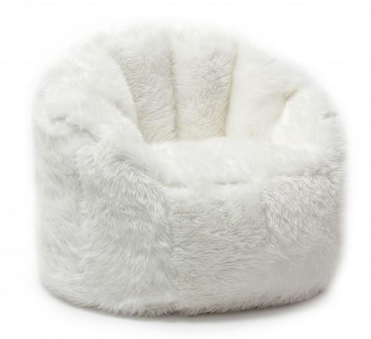Big Joe Milano Ivory Shag Chair