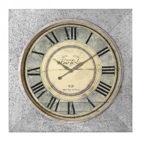 Rue De Paris Square Wall Clock