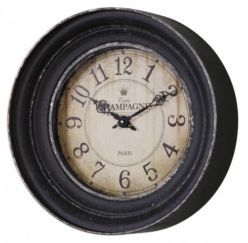 Melania Aged Black Wall Clock