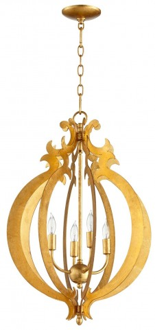 Danelle Golden 4 Light Pendant