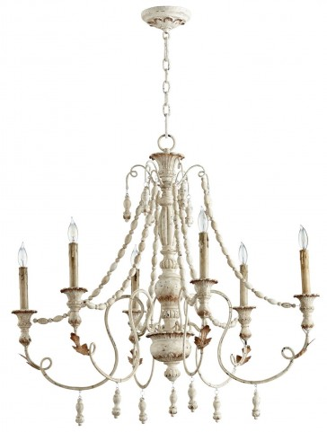 Lyon Persian White 6 Light Chandelier