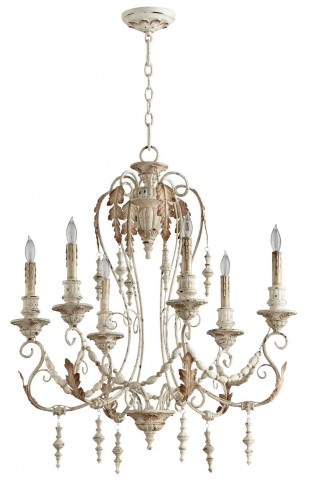 Lolina Persian White 6 Light Chandelier