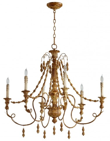 Lyon French Umber 6 Light Chandelier