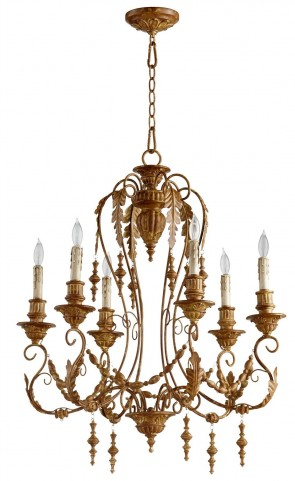 Lolina French Umber 6 Light Chandelier
