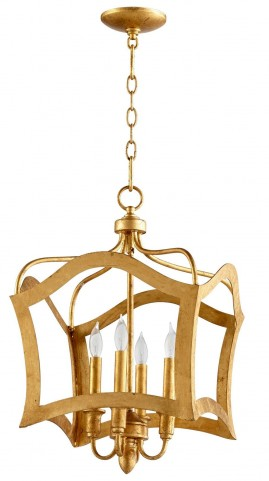 Milan Gold Leaf 4 Light Pendant