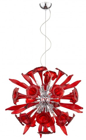 Remy Red 12 Light Pendant