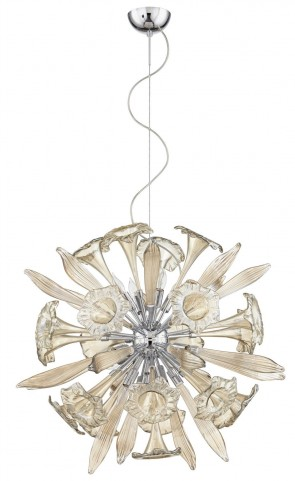 Remy Cognac 12 Light Pendant