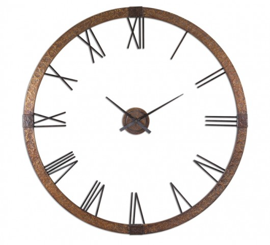 "Amarion 60"" Copper Wall Clock"