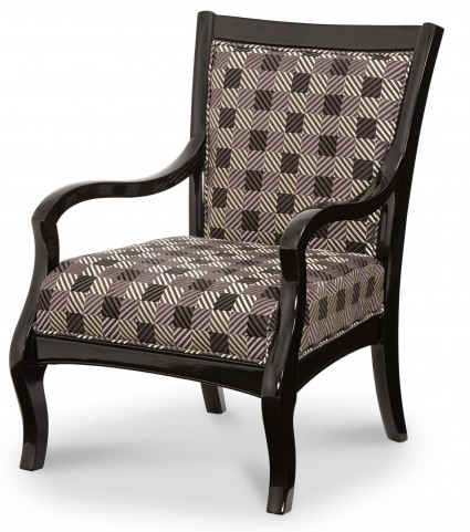 Beverly Boulevard Black Lacquer Fabric/Wood Chair