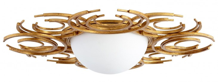 Vivian Golden 2 Light Ceiling Mount