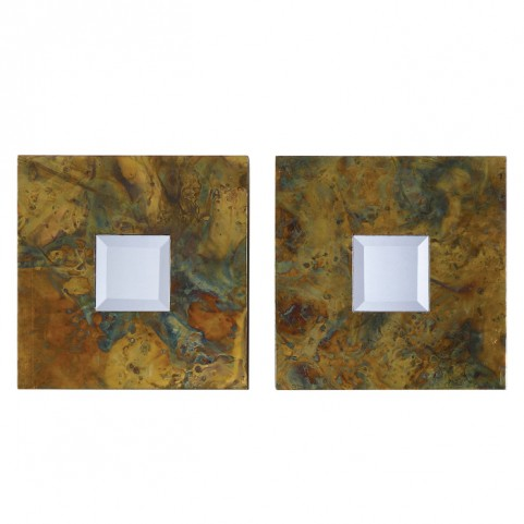 Ambrosia Squares Mirror Set of 2