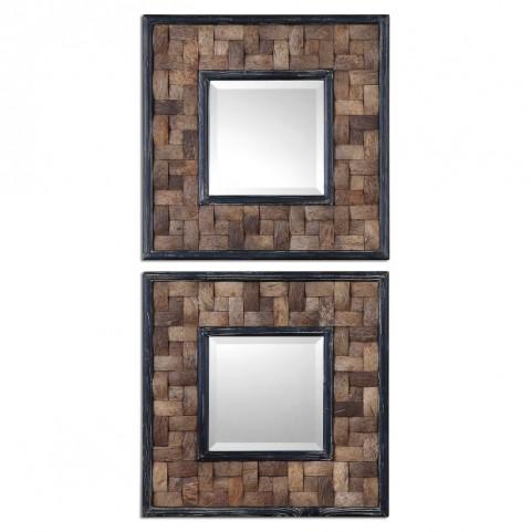 Barros Squares Mirror Set of 2