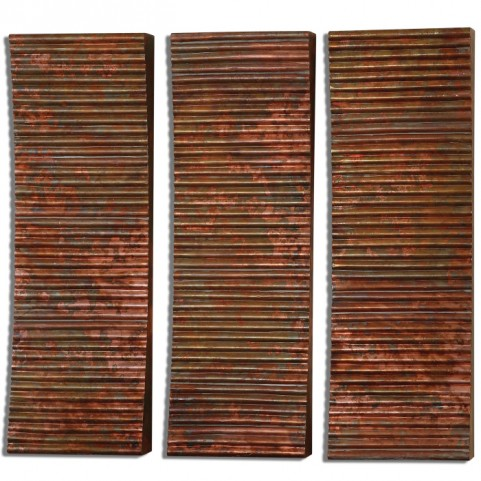 Adara Copper Wall Art Set of 3
