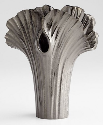 Alloy Palm Textured Bronze Small Vase