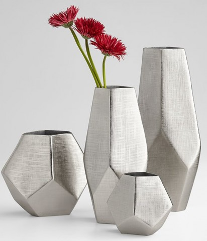 Vulcan Textured Nickel Small Vase