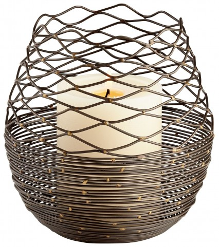 Coiled Silk Large Candleholder