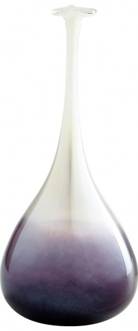 Curie Purple and Clear Small Vase