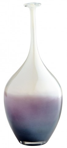 Pastuer Blue and Clear Vase