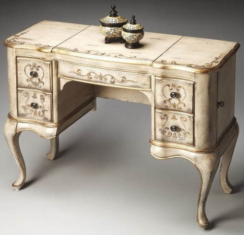 Charlotte Gilted Cream Hand Painted Vanity