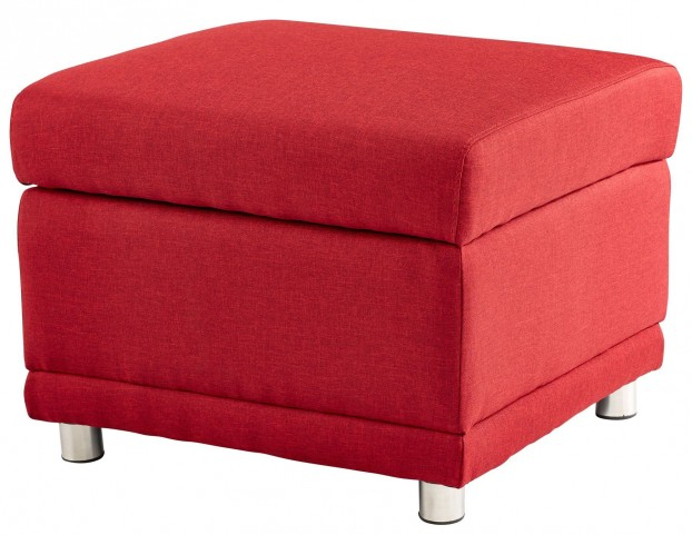 Maro Red Storage Ottoman