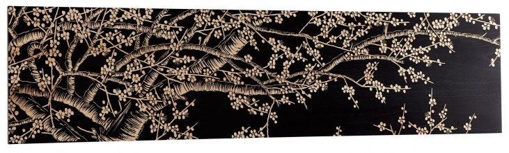 Cherry Blossom Dark Wall Art