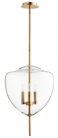 Ember Transparent Glass 3 Light Pendant