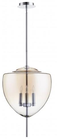 Ember Smoked Glass 3 Light Pendant