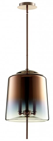 Lusterous Satin Copper 3 Light Pendant