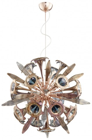 Remy Copper 12 Light Pendant