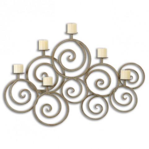 Fabricia Metal Candle Sconce