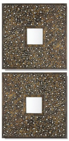 Maritsa Metal Square Mirrors Set of 2