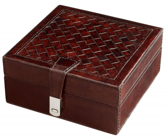 Lock Box Brown Container