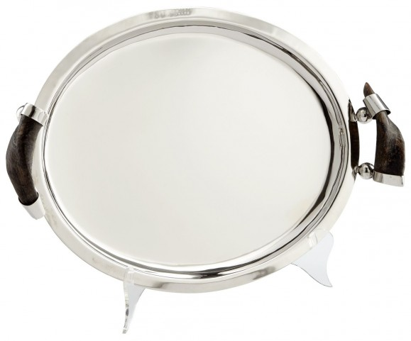 Large Horn and Silver Himalayan Tray