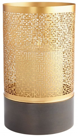 Large Amazing Copper and Gold Candleholder