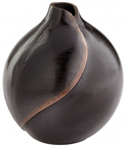 Small Bronze Bopper Dimple Vase