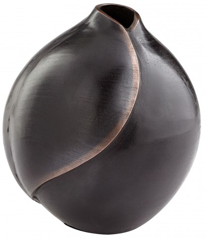 Large Bronze Copper Dimple Vase