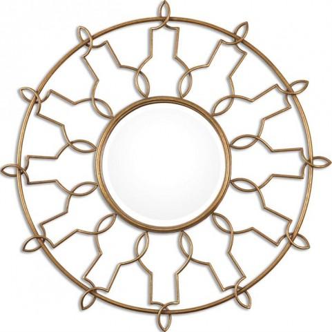 Kensa Round Gold Mirror