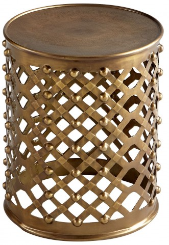 Alden Brushed Brass Side Table
