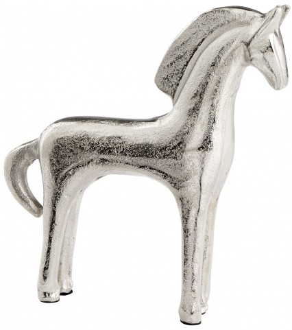 Small Horseplay Raw Nickel Sculpture