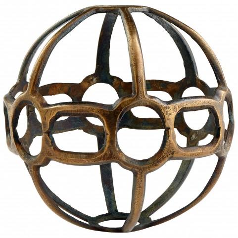 Large Antique Brass Breezy Ball Filler