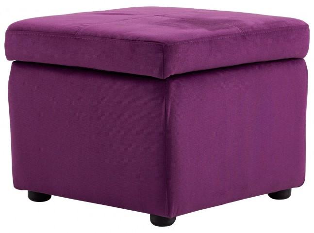 Huffington Purple Ottoman
