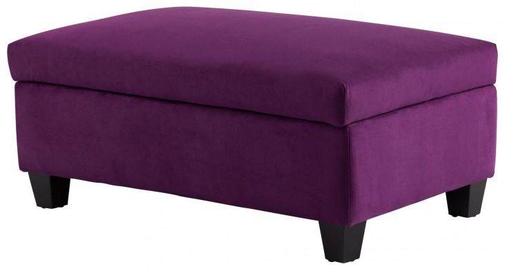 Aldous Purple Ottoman