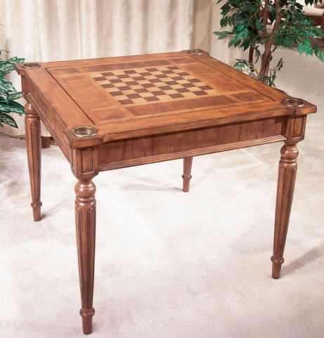 Vincent Antique Cherry Multi-Game Card Table