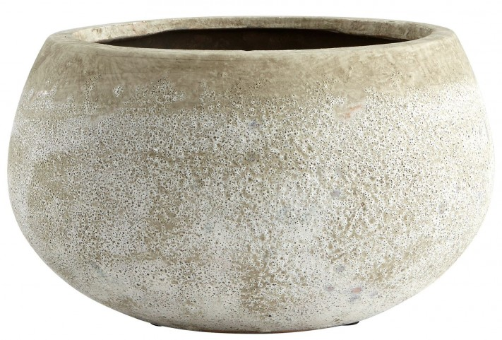 Small Round Stoney Planter