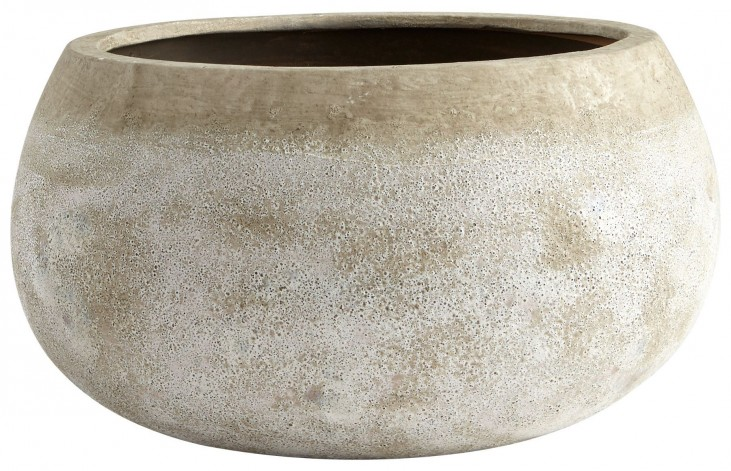 Large Round Stoney Planter