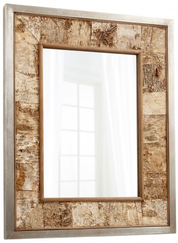 Drift Away Galvanized and Oak Mirror