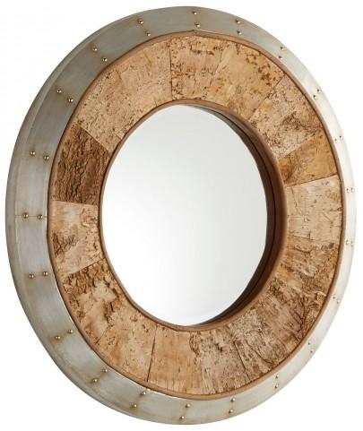 Avante Galvanized and Oak Mirror