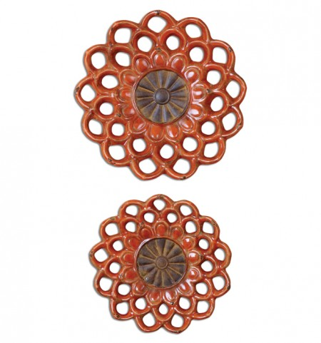 Carilla Ceramic Medallions Set of 2