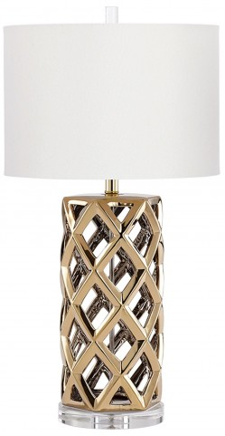 Satin Brass Lighting CFL Table Lamp